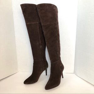 Coach Chestnut Suede Dalla Over the Knee Boots 6 B